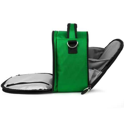 vangoddy bolsa slr de nylon - verde para
