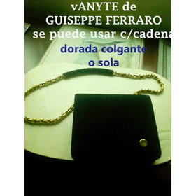 Vanité Giuseppe Ferraro Fina Gamuza Negra, C/asa Dorad