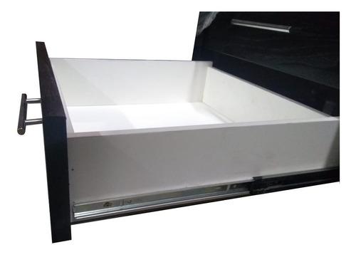 vanitory 1.50x50 tono wengue bacha simple con 6 cajones