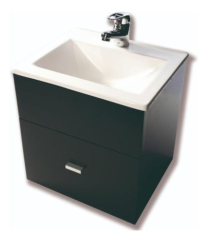vanitory colgante laqueado wengue bacha baño 40cm cuotas
