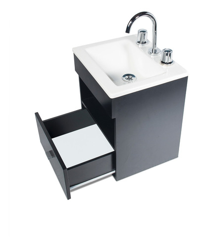 vanitory colgante laqueado wengue cajon bacha baño 40cm !!!