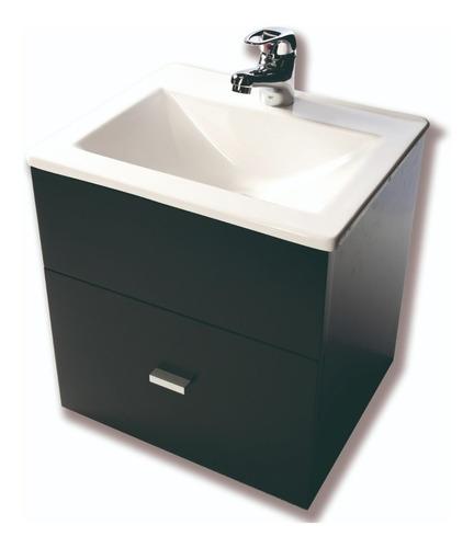 vanitory colgante laqueado wengue oscuro bacha baño 40cm