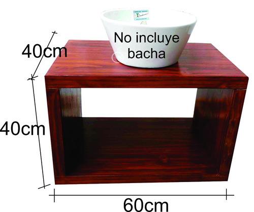 vanitory colgante madera maciza hidrolaqueado 40cm x 60cm