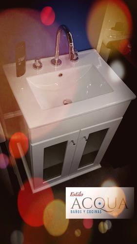 vanitory de 50 cm con mesada tocetos marmol travertino
