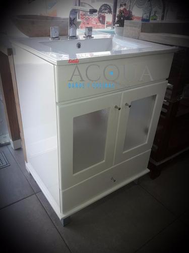 vanitory de 60 cm con mesada tocetos marmol travertino