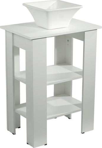 vanitory estilo blanco 60 cm baño mesa tapa con bacha apoyo