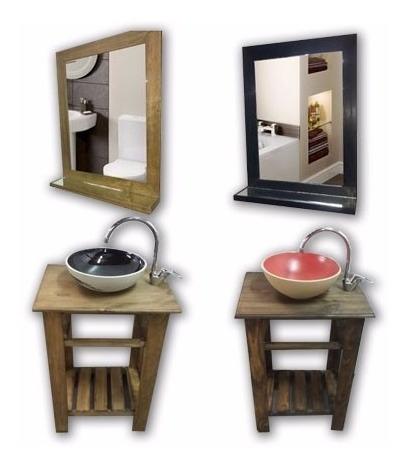 vanitory estilo campo madera mesa baño 55cm lanzamiento!!!