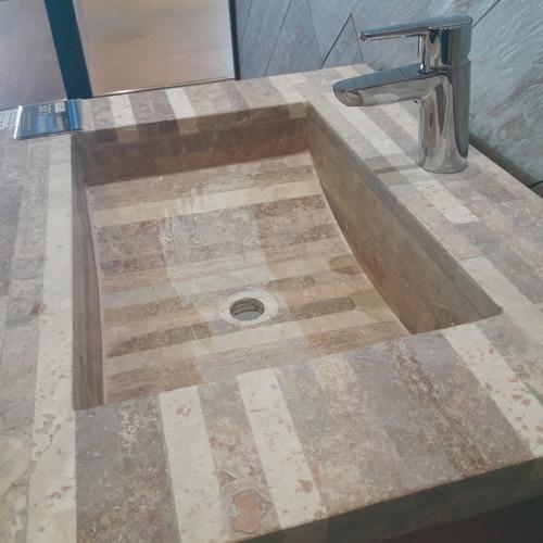 vanitory madera 58x44 +  bacha mesada trav rosetto 60x46