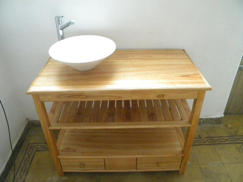 vanitory madera maciza paraíso, petiribí, cedro (a medida)