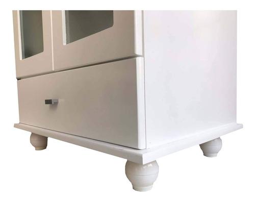 vanitory m.d.f laqueado blanco con bacha 60cm con patas
