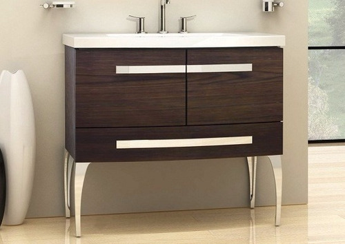 vanitory mueble baño campi rondo 90 con mesada loza 3or