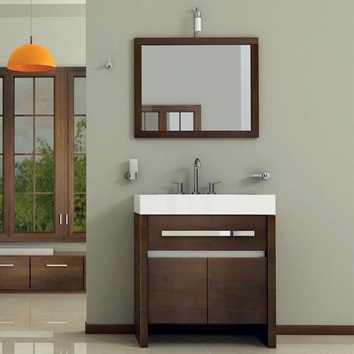 vanitory mueble baño campi square caramelo 80 mesada losa