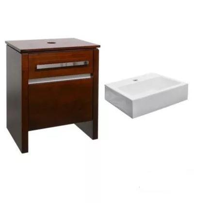 vanitory mueble baño square caramelo 60 cm campi