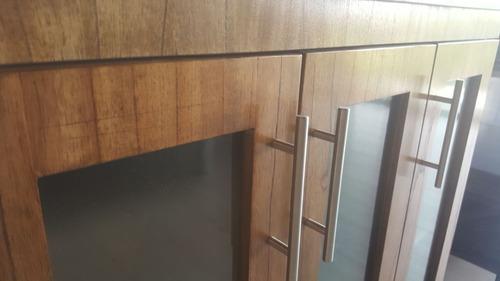 vanitory tono miel 82cm de ancho c/3 puertas