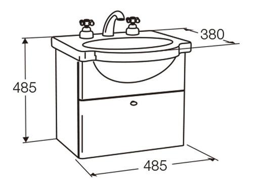 vanitory y lavatorio de colgar y4xed/b7 48cm venecia ferrum