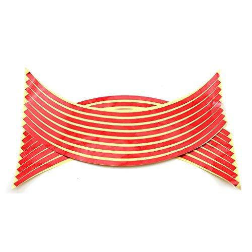 vanker 2pcs rojo coche de la motocicleta ciclo de la rueda