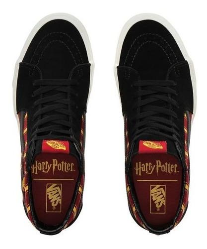 vans harry potter casa gryffindor sk8 hi skate bota hogwarts