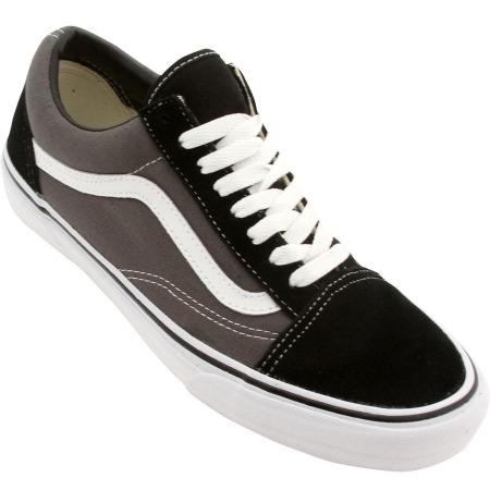 vans negra y gris