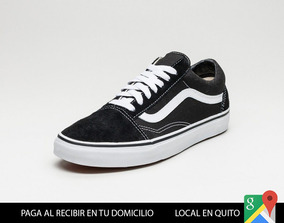 Vans Old Skool Negras Zapatos Importados Skate Local Quito