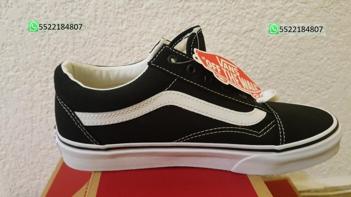 16766f2b44 Vans Old Skool Negro Con Blanco Nuevo Original En Caja -   1