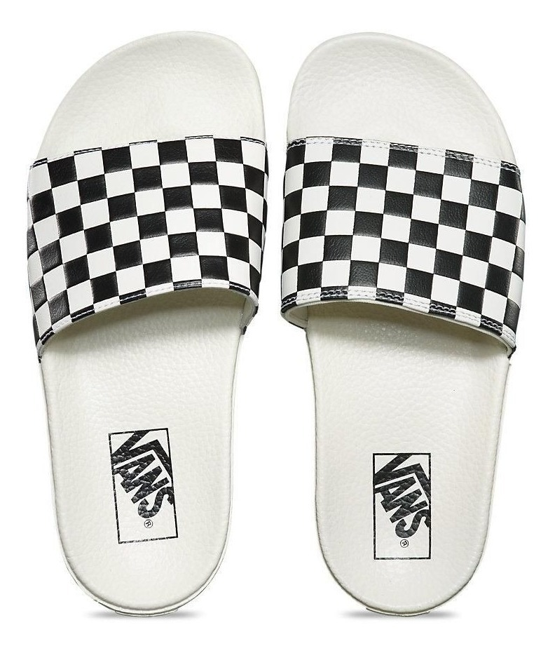 estilos de moda seleccione para mejor nuevo estilo y lujo Vans Slide On W Cuadros Ojota Chanclas Chancleta Sandalia