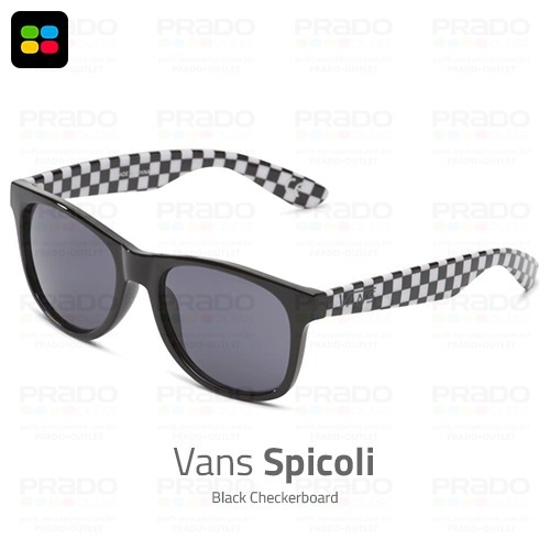 02452cff20f2f Vans® Spicoli 2018 Black Checkerboard - Óculos De Sol Usa! - R  149 ...