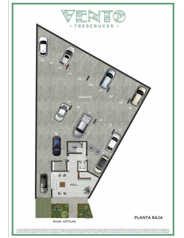 vanta de apartamento de 2 dormitorios a estrenar con cochera