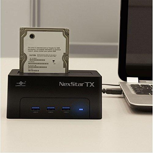vantec nexstar tx hard drive dock with 3-port hub usb 3.0pa