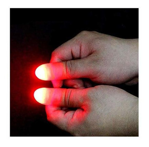 vantiyaus led lámpara de dedo (2 paquetes / 4pcs) pulgares l