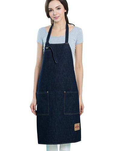 vantoo unisex ajustable jean denim babero con + envio gratis