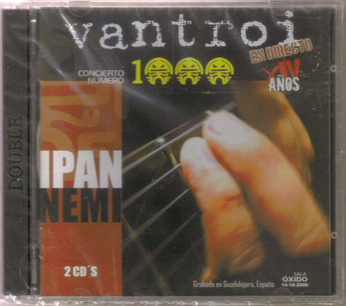 vantroi - ipannemi en directo ( punk rock hardcore ) cd rock