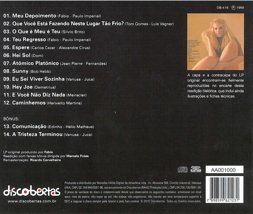 vanusa cd álbum vanusa álbum1969 vanusa cd álbum lacrado