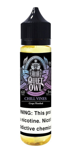 vapeador líquido vaper element chill vine quiet owl 60ml