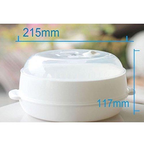 vapor de alimentos de microondas de 2 niveles vapor de verdu