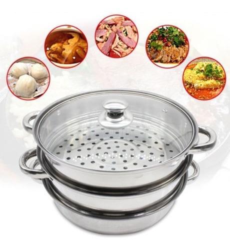 vapor eléctrico de 3 niveles cocina cocina vegetal vaporiza