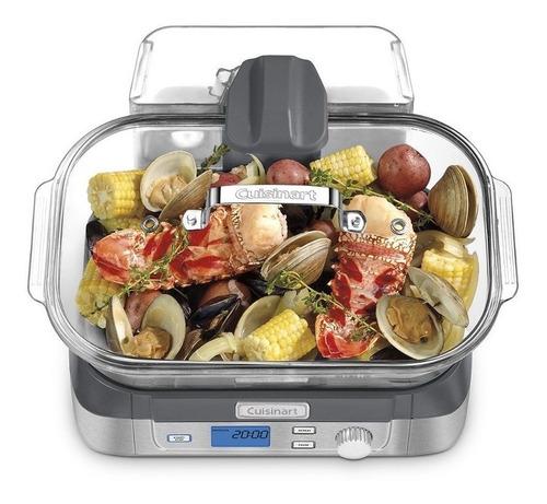 vapor eléctrico de alimentos vitrina cuisinart olla de coci
