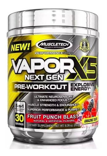 vapor x5 next gen pre workout, pre entreno muscletech