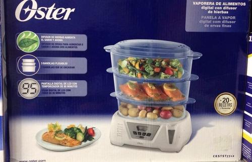vaporera de alimentos oster digital 3 bandejas plegables
