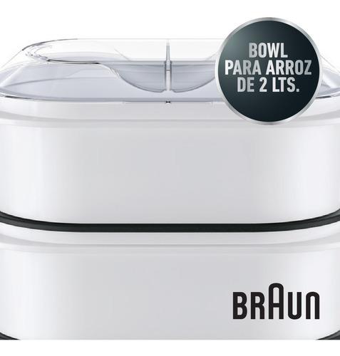 vaporera eléctrica 3 niveles braun br-3216-fs3000 arrocera