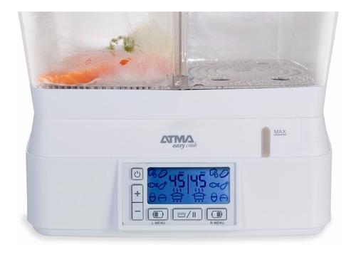 vaporera eléctrica doble vapor display digital atma va8131e