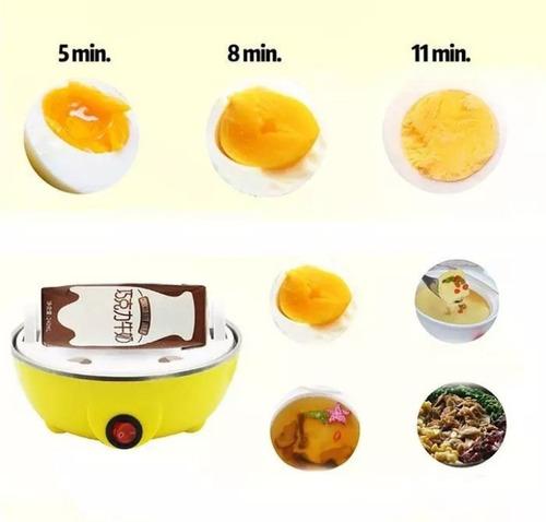 vaporera hervidor de huevos electrico x10 und + envío gratis