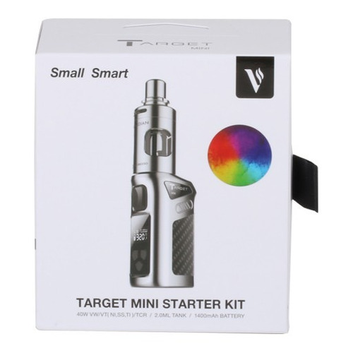 vaporesso target mini kit rainbow + 10 resistencias mod vape