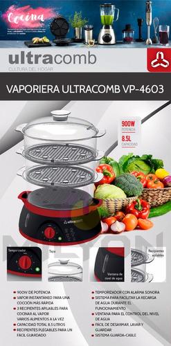 vaporiera eléctrica ultracomb vp 4603 c/timer 3 bandejas 8.5