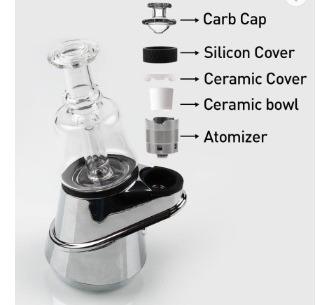 vaporizador de wax e-rig con bubbler & carb cap puffco