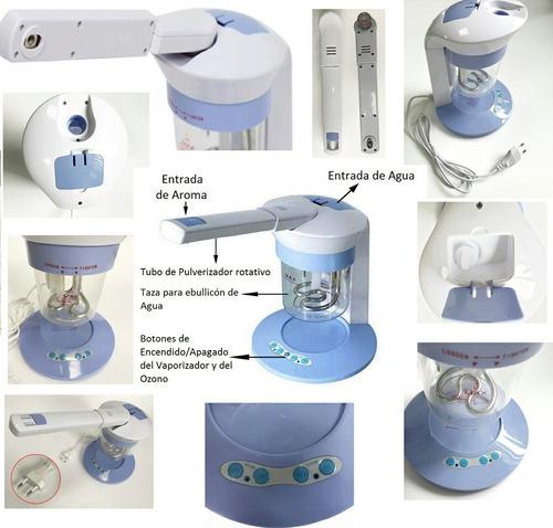 vaporizador facial con ozono y difusor aromaterapia oferta