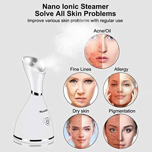 vaporizador facial nano iónico portátil limpiador facial de