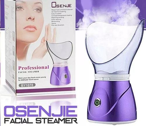 vaporizador sauna facial limpiador de rostro o cara