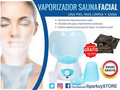 vaporizador sauna facial + pilaten + envio gratis