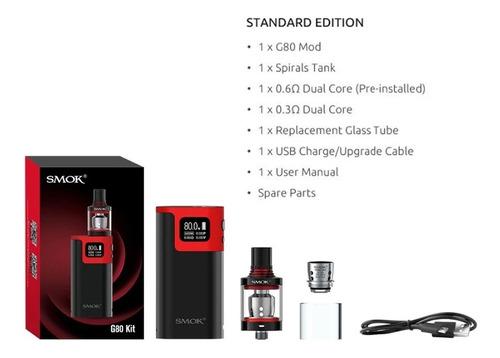 vaporizador smok g80 kit + líquido 10ml