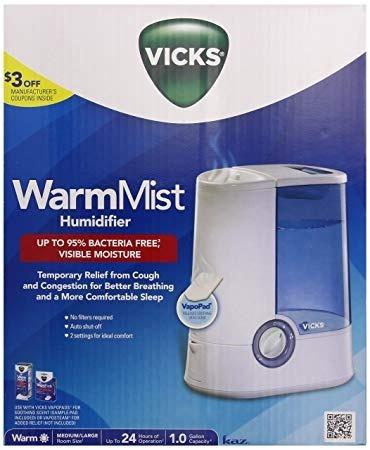 vaporizador ultrasonico vapor tibio vick v750ar silencioso